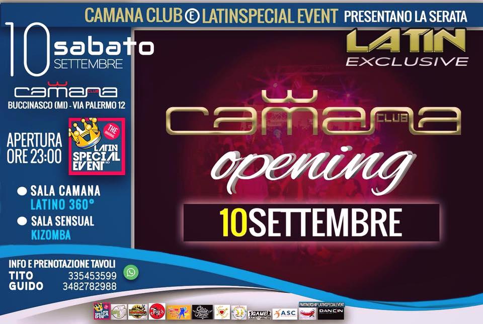 10 SETT, SABATO CAMANA - OPENING