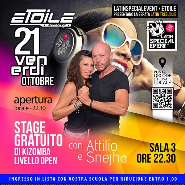 21 OTT, VENERDI Latin Très Jolie ETOILE STAGE SALA 3